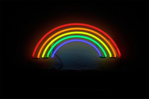 rainbow, light, and neon image