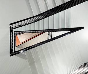 architecture, stairway, and perspective image