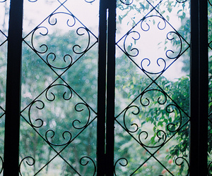 green, vintage, and window image