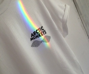 arctic monkeys, rainbow, and grunge image