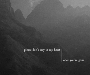 quotes, pain, and gone image