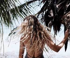 beach, hair, and style image