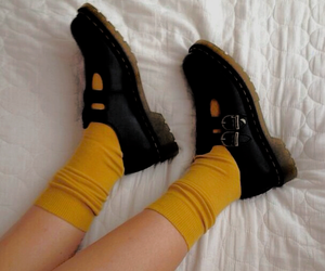 yellow, shoes, and aesthetic image