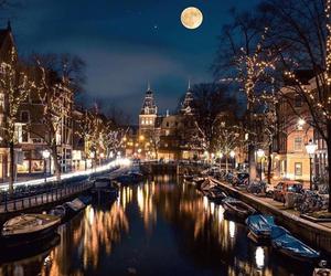 amsterdam, lights, and night image