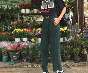 flowers, fashion, and grunge image