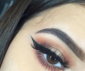 brow, brown, and eye image