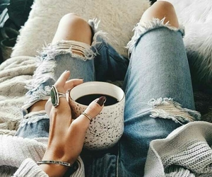 coffee, jeans, and relax image