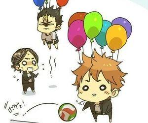 haikyuu, anime, and balloons image