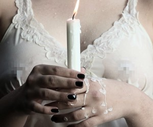 candle, light, and nails image