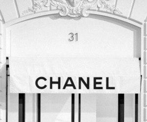 chanel, white, and black image