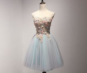 ball gown, party dress, and floral dresses image
