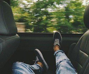 car, travel, and jeans image