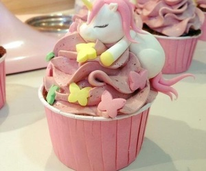 unicorn, food, and cake image