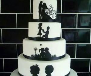 cake, love, and wedding image