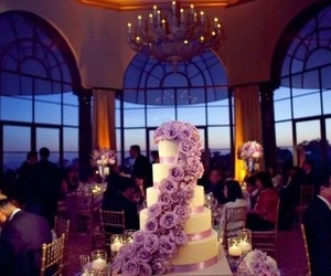 cake, wedding, and purple image