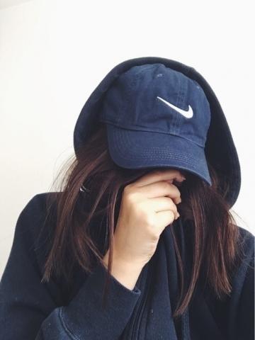 girl, nike, and cap image
