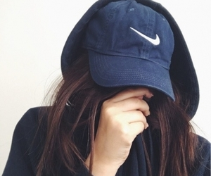 girl, nike, and cap image