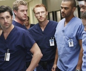 grey's anatomy, derek, and owen hunt image