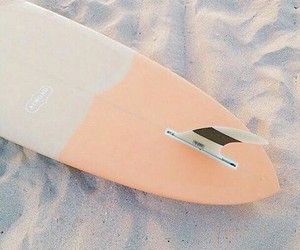 beach, surf, and board image