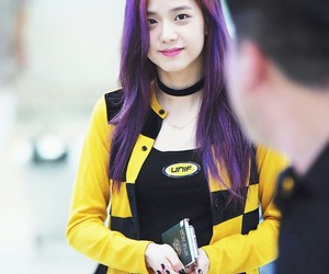 kfashion, 블랙펑크, and purple hair image