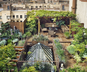 garden, roof, and green image