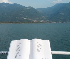 book, italy, and lake image