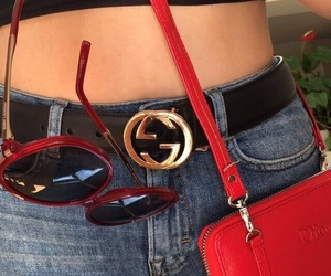 fashion, red, and gucci image