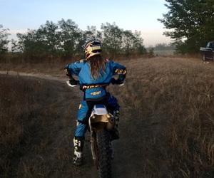 girl, motocross, and tm image