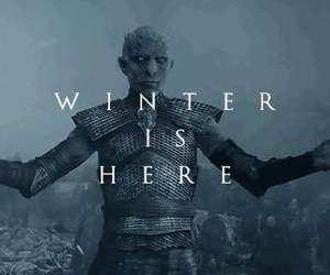 game of thrones, winter is here, and gif image