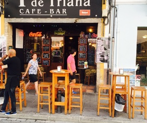 bar, sevilla, and cafe image