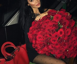 red roses, rose, and thanks image