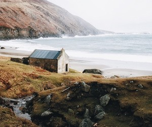 nature, house, and sea image