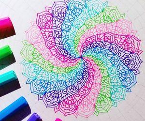 art, mandalas, and colorful image