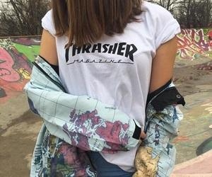 girl, fashion, and thrasher image