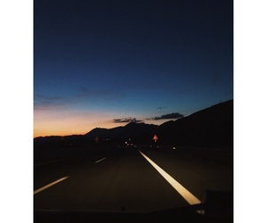 black, blue, and evening image