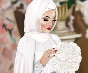 bride, girl, and رَسْم image