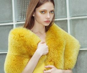girl, model, and yellow image