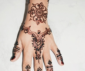henna, henna art, and henna tattoo image