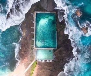 beach, sea, and pool image