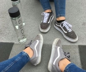 shoes, vans, and gray image