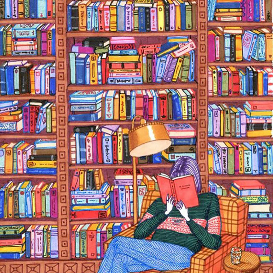 book, art, and reading image