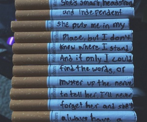 love, cigarette, and quotes image