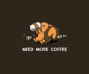 coffee, squirrel, and need image