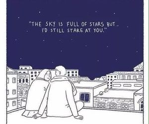 love, stars, and quotes image