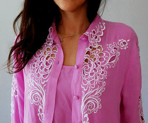 blouse, embroidery, and pink image