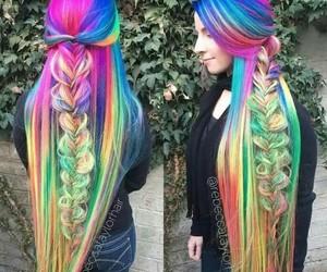 arcoiris, belleza, and hair image