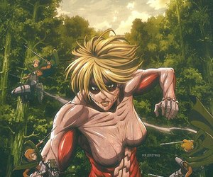 annie, shingeki no kyojin, and attack on titan image