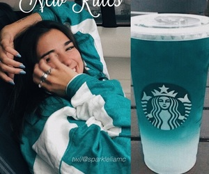 blue, girl, and mint image