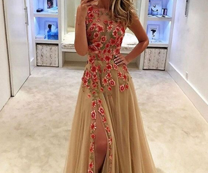 dress, Prom, and flowers image