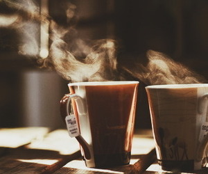 tea, coffee, and fall image